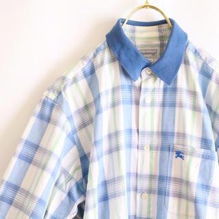 バーバリー(BURBERRY)の【BURBERRY】半袖チェックシャツ 90's  L相当☆(シャツ)