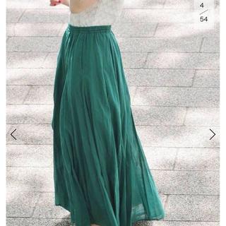 IENA - コットンボイルギャザーパネルスカート36サイズ
