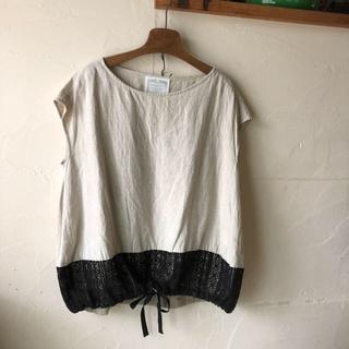 ビアズリー(BEARDSLEY)のお値下 ビアズリー 裾レース フレンチブラウス(シャツ/ブラウス(半袖/袖なし))