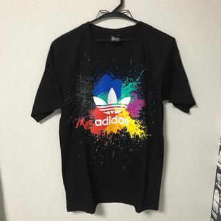 adidas - アディダス風 ブラック Lサイズ