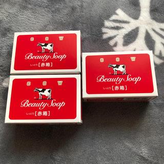 ギュウニュウセッケン(牛乳石鹸)の化粧石鹸カウブラウンド赤箱a1(ボディソープ/石鹸)