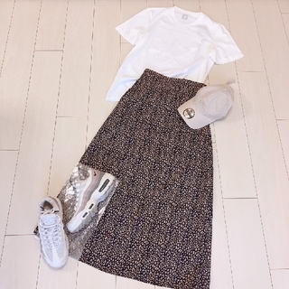 adidas - 大人スポーツミックスコーデ♡アディダスロゴTシャツレオパードロングスカート