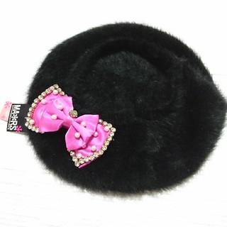 マーズ(MA*RS)のお値下げ☆新品未使用タグ付きマーズピンクリボン付きベレー帽(ハンチング/ベレー帽)