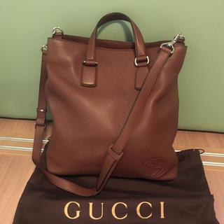 Gucci - 定価約20万円ブラウン GUCCI トートバッグ ビジネスバック レザーバッグ