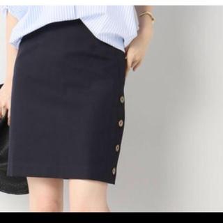 Noble - ノーブル サイドボタンスカート ネイビースカート イエナ スピックアンドスパン