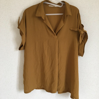 シマムラ(しまむら)の3L マスタード色カットソー(カットソー(半袖/袖なし))