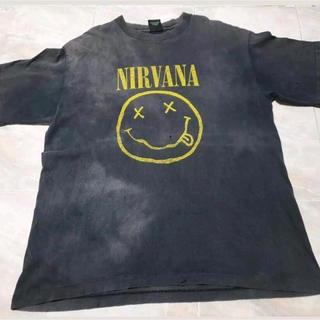 """フィアオブゴッド(FEAR OF GOD)のレア ヴィンテージ  90s Nirvana """"Smiley"""" Tシャツ  (Tシャツ/カットソー(半袖/袖なし))"""