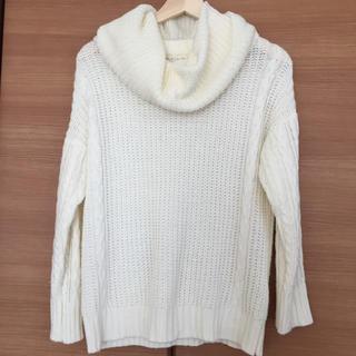 シマムラ(しまむら)の最終値下げ!しまむらのネックウォーマー付きセーター(ニット/セーター)