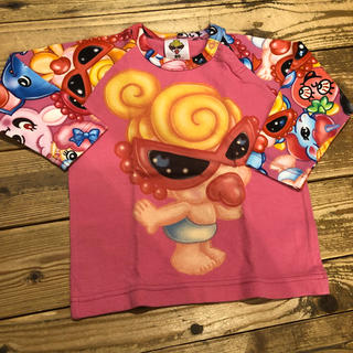ヒステリックミニ(HYSTERIC MINI)のヒステリックミニ 長袖 タグ付き 新品  80  総柄(Tシャツ)
