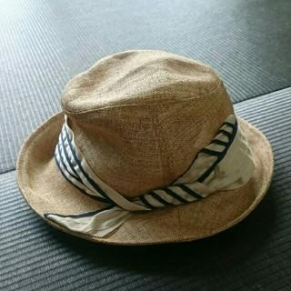 ランバンオンブルー(LANVIN en Bleu)のLANVIN en blue  帽子(麦わら帽子/ストローハット)