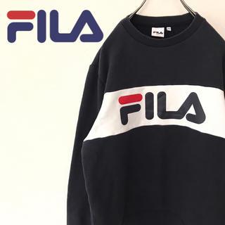 フィラ(FILA)の【90s】フィラ プルオーバースウェット 古着 デカロゴ レトロ ゆるだぼ(スウェット)