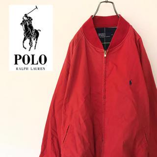 POLO RALPH LAUREN - 【90s】ポロラルフローレン MA-1ナイロンブルゾン スイングトップ ゆるだぼ