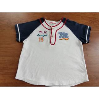 ミキハウス(mikihouse)のミキハウス 野球 Tシャツ レトロ  レア 100㎝(Tシャツ/カットソー)
