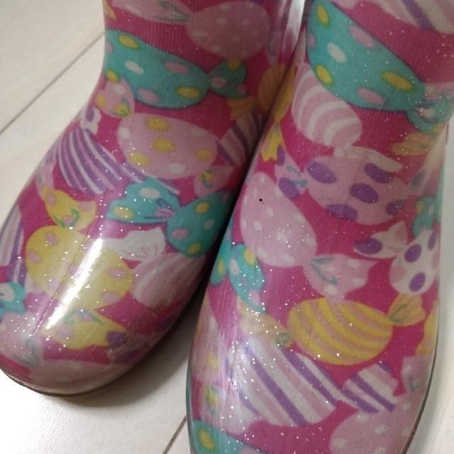 Orange bonbon(オレンジボンボン)の★オレンジボンボン キャンディ柄の長靴★ キッズ/ベビー/マタニティのキッズ靴/シューズ(15cm~)(長靴/レインシューズ)の商品写真