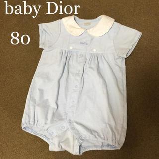 ディオール(Dior)のbaby Dior ロンパース 80(ロンパース)