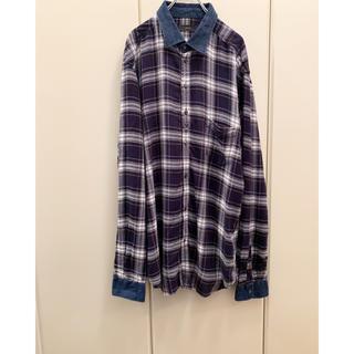 ディーゼル(DIESEL)の【DIESEL】希少 襟デニム ビッグ チェックシャツ size XXL(シャツ)
