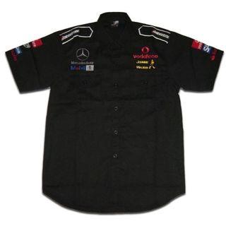 【送料無料】McLaren マクラーレン 半袖クルーシャツ 黒 XXLサイズ(シャツ)