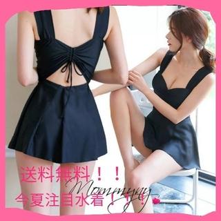 ⭐今流行りのワンピース水着 体型カバー ブラック色 大人気即購入OK!!