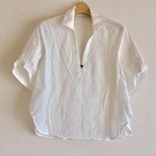 アヴィレックス(AVIREX)のAVIREX ポンチョ風 半袖 シャツ 白 S(Tシャツ(半袖/袖なし))