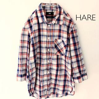 ハレ(HARE)のHARE 七分袖チェックシャSサイズ ハレ(シャツ)