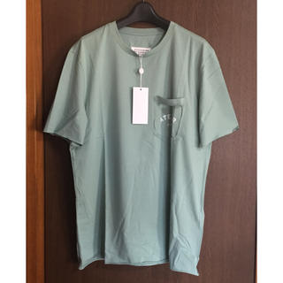 マルタンマルジェラ(Maison Martin Margiela)の54新品 マルジェラ ATELIER ロゴ Tシャツ ライトグリーン(Tシャツ/カットソー(半袖/袖なし))