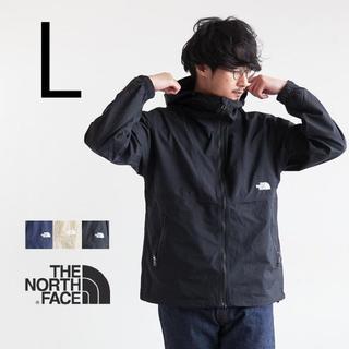THE NORTH FACE - 防水雨具 L 新品ノースフェイス黒マウンテンパーカー コンパクトジャケット