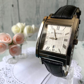 バーバリー(BURBERRY)の【動作OK】BURBERRY バーバリー BU1550 腕時計 スクエア(腕時計(アナログ))