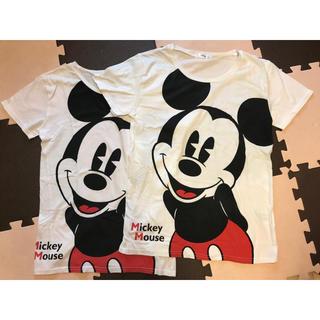 シマムラ(しまむら)のミッキーTシャツ MとLペア(Tシャツ(半袖/袖なし))