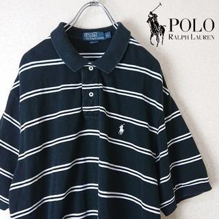 ポロラルフローレン(POLO RALPH LAUREN)の古着 90s ポロラルフローレン ポロシャツ ボーダー ビックシルエット(ポロシャツ)