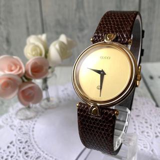 グッチ(Gucci)の【電池交換済み】GUCCI グッチ 腕時計 4500M シルバー ゴールド(腕時計(アナログ))