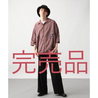 ハレ(HARE)の完売品 HARE 19ss フラワー刺繍 オープンカラーシャツ(シャツ)