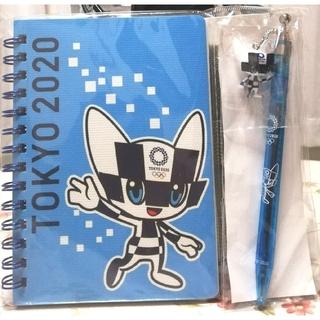 東京2020オリンピックWリングノート&マスコット付きボールペン