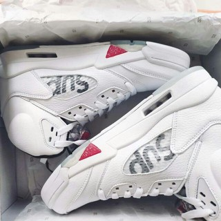 シュプリーム(Supreme)のレアSupreme Nike air jordan 5 retro 28 白(スニーカー)