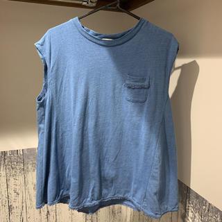 ジーユー(GU)のフレアデニムノースリーブトップス(シャツ/ブラウス(半袖/袖なし))