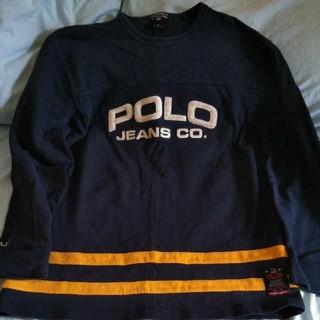 ポロラルフローレン(POLO RALPH LAUREN)のポロシャツ【 POLO JEANS CO  】紺色 美品 M(ポロシャツ)