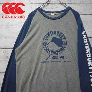 カンタバリー デカロゴ Tシャツ ビッグサイズ ラグラン 袖プリント N77(Tシャツ/カットソー(七分/長袖))