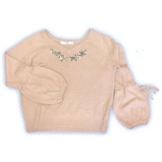 シマムラ(しまむら)のニット 花 刺繍(ニット/セーター)