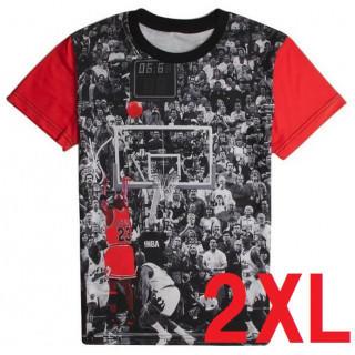 2XL NBA マイケル ジョーダン バスケ T シャツ シカゴ ブルズ 半袖(Tシャツ/カットソー(半袖/袖なし))