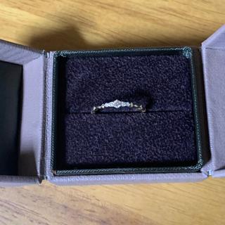 アガット(agete)のアガット 18K イエローゴールド ダイヤモンドリング(リング(指輪))