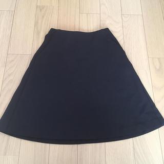 ユニクロ(UNIQLO)のUNIQLOユニクロブラックフレアミニスカート(ミニスカート)