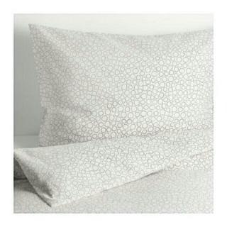 イケア(IKEA)のIKEAシングル掛け布団カバー&枕カバーTRADASTER グレー (シーツ/カバー)