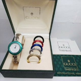 グッチ(Gucci)のGUCCI 腕時計 チェンジベゼル 稼働中 6リング t37(腕時計)