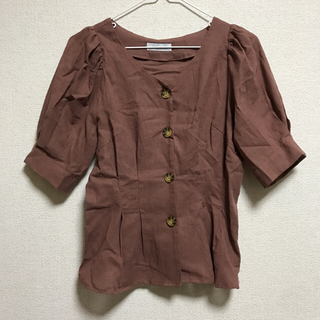 シマムラ(しまむら)のフロントボタン ブラウス(Tシャツ(半袖/袖なし))