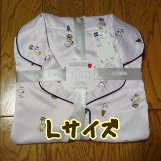 ジーユー(GU)の【新品】完売品!SNOOPYコラボ★サテンパジャマ★ピンクL(パジャマ)