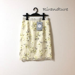 Rirandture - 未使用タグ付き リランドチュール 花柄 レース スカート