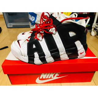 NIKE - NIKE AIR MORE UPTEMPO zebra モアテン