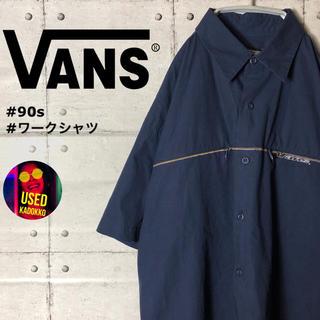 ヴァンズ(VANS)のケンタ様《希少》オールドバンズ◆刺繍ロゴ ラインデザイン ワークシャツ 90s(シャツ)