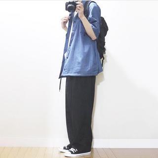 GU - GU/デニムコーチシャツ