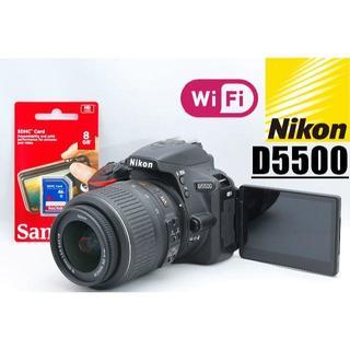 Nikon - 自撮り&WiFi対応 SDカード付き♪ ニコン D5500レンズセット