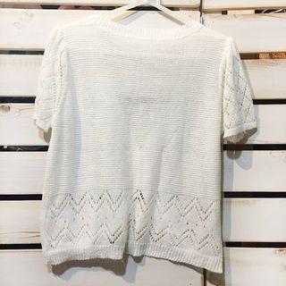 シマムラ(しまむら)の美品良品 クロシェット風 白カーディガン/羽織り(カーディガン)